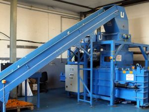 Industrial shredding machine at Let's Talk Shred the specialist secure shredding and data destruction service in Dundee Tayside and Perthshire