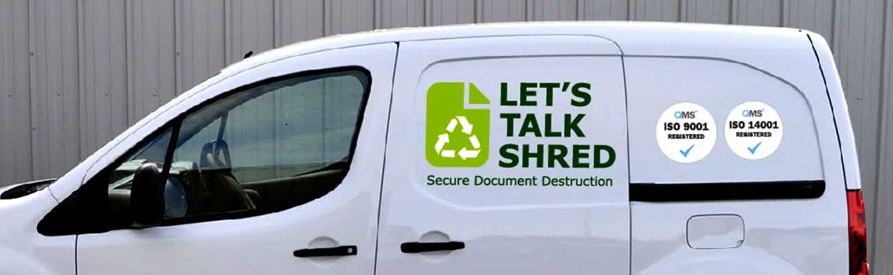 Van belonging to Let's Talk Shred the specialist secure shredding and data destruction service in Dundee Tayside and Perthshire